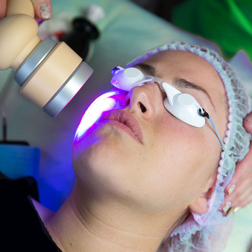 Laser therapy on medical grounds